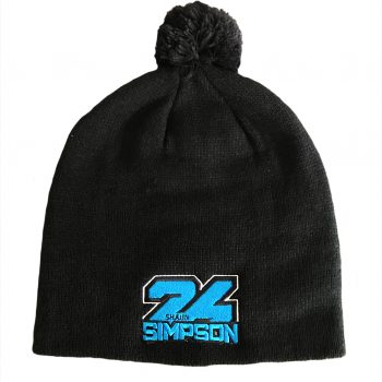 Shaun Simpson 24 Beanie Hat BLACK